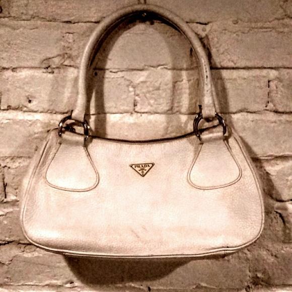 Prada Handbags - Authentic Prada white leather purse